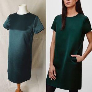 ARITZIA BABATON Dael Emerald Satin Short Dress